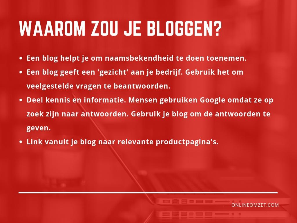 Webshop en bloggen