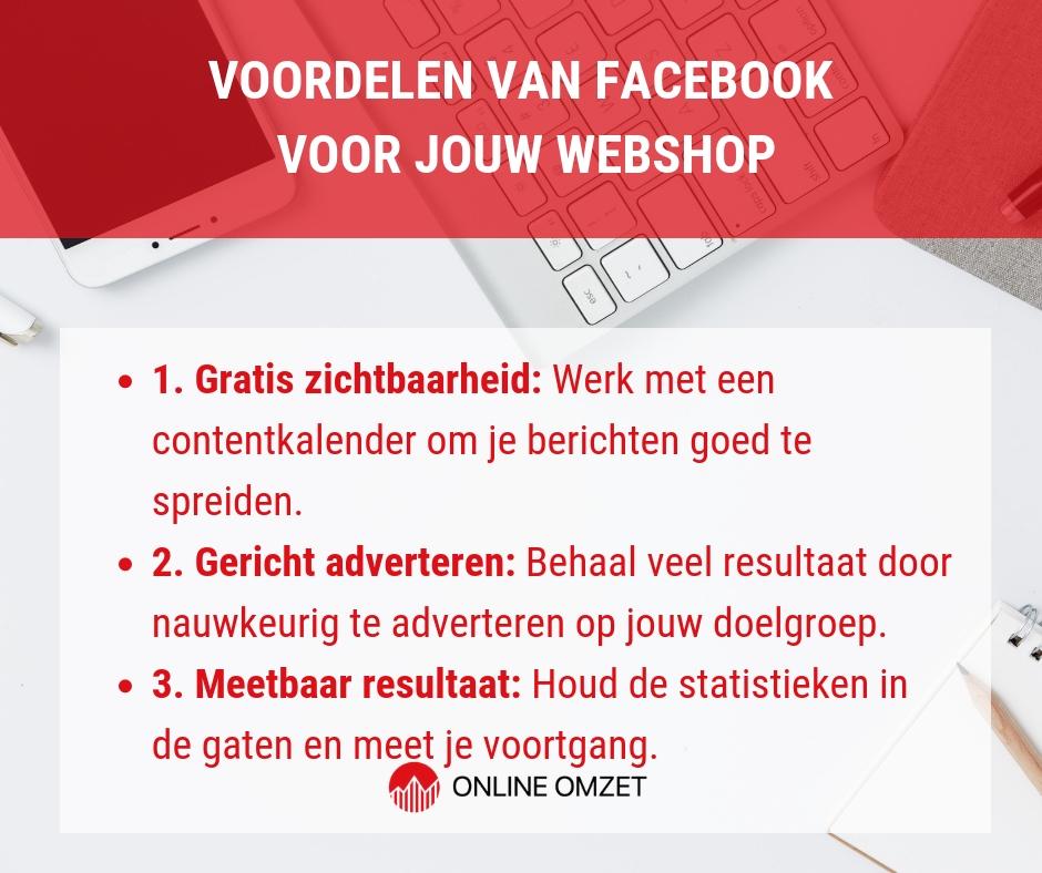 Voordelen van Facebook voor webshops