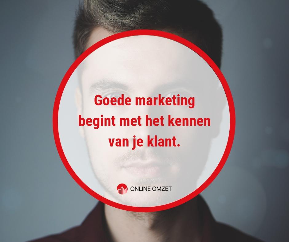Goede marketing begint met een goed buyer persona