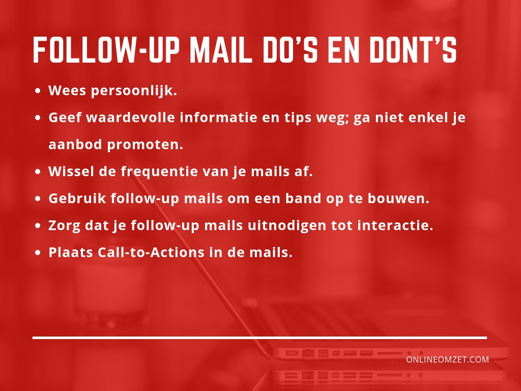 Follow-up mail Do's en Dont's