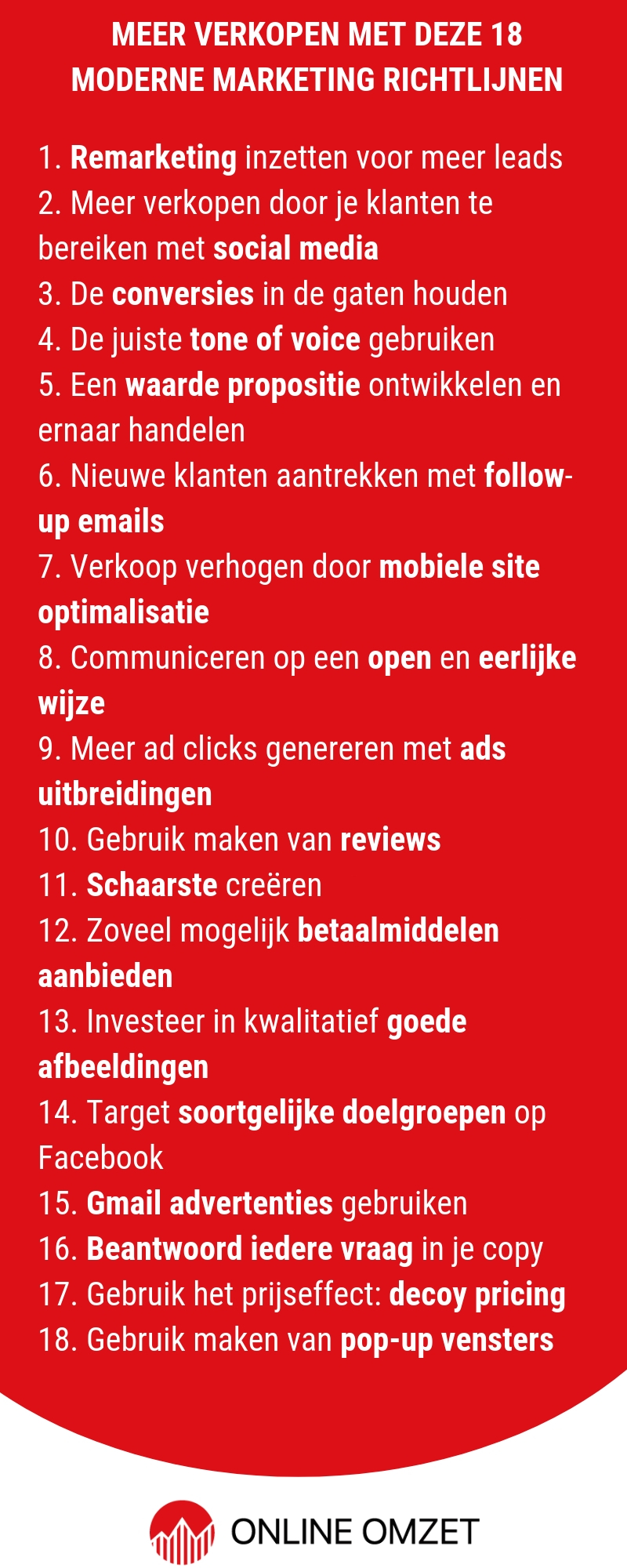 Meer verkopen met marketing tips - infographic